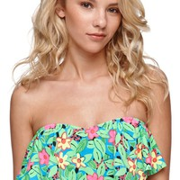 LA Hearts Flounce Bandeau Top - Womens Swimwear -