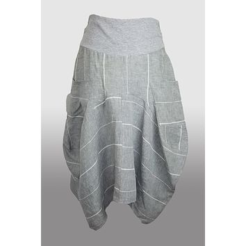Italian Linen Skirt from inizio - Magic striped