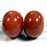 Hawaiian Clay Handmade Lampwork Beads Orange Brown Terracotta 685g