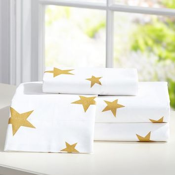 The Emily + Meritt Metallic Star Sheet Set