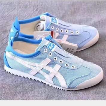 ASICS GEL LYTE Onitsuka Tiger The lazy a pedal canvas shoes blue white H-PSXY