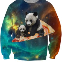 Space Pizza Panda Crewneck Sweatshirt