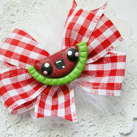 Girls Hairbow Kawaii Fruit Hair Bow for Babies Girls Teens and Adults Kawaii Fashion Kawaii Watermelon Hair Bow