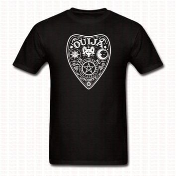 New Ouija Board T Shirt Black Kill Occult Spirit Pentagram Star Gothic Seance Men Women Funny O Neck Hip Hop Shirts Brand Tees