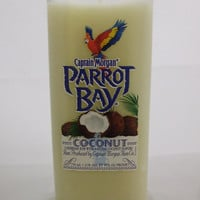 Pure Soy Candle in Reclaimed Parrot Bay Rum Liquor Bottle - Your Choice of Scent