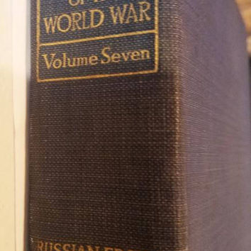 antique book 1919 Literary digest history of the world war volume 7 The Russian front
