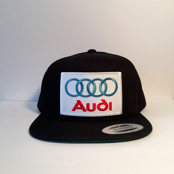 Audi limited edition black snapback cap