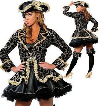Halloween costumes for women / girl Pirates of the Caribbean dress adult queen costume girl anime cosplay carnival costume