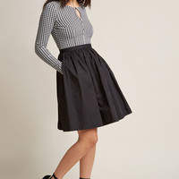 Twofer Long Sleeve Dress in Houndstooth