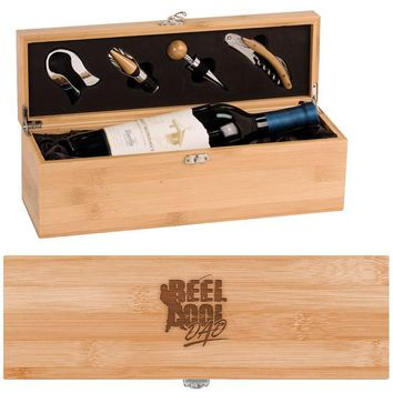 Reel Cool Dad Wine Box - One Bottle Set with Tools