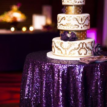 Purple Sequin Linens