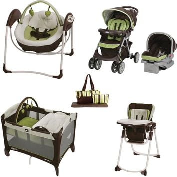 Go Green Complete Baby Gear Baby Bundle with Diaper Bag