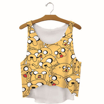 Womens Seal Printed Show Hilum Tank Top Sports Vest Summer Gift - 02