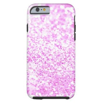 Cool Girly glitter pattern | Pink glitterTexture Tough iPhone 6 Case