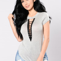 Sing To You Top - Heather Grey