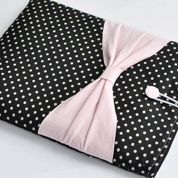 "15"" MacBook Pro Case,Laptop Case,Laptop sleeve,custom 15"" Laptop Cover,15"" Macbook Pro Retina sleeve, PADDED, Pink Bow,With Pocket For Ipad"