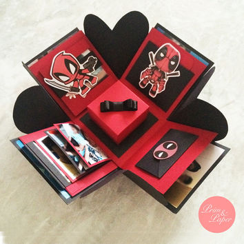 Deadpool Explosion Box // Deadpool Exploding Box // All Occasion Explosion Box // All occasion Surprise Box // Birthday Explosion Box
