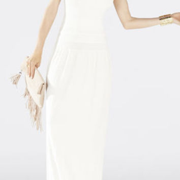 Delyse Pointelle Maxi Dress - White