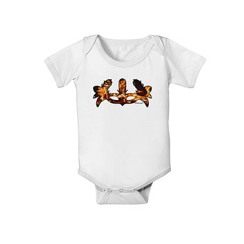 Fire Masquerade Mask Baby Romper Bodysuit by TooLoud