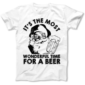 It's The Most Wonderful Time For A Beer - T Shirt
