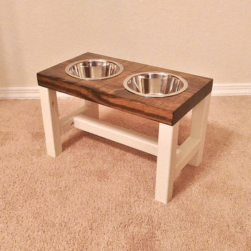 Dog Bowl Stand - Medium/Tall Dog Bowl Stand - Farmhouse Style - Rustic Dog Bowl Stand - Raised Dog Bowl - Elevated Bowl - Raised Dog Feeder