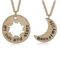A Song Of Ice And Fire Necklace Game Of Thrones My Sun And Stars Moon Of My Life Pendant Long Necklace Collar Fashion Jewelry