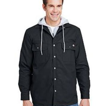 Dickies - Men's Hooded Duck Quilted Shirt Jacket