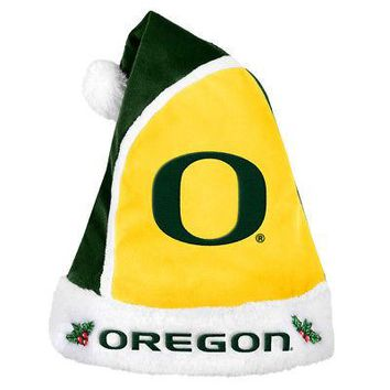 Licensed Oregon Ducks Official NCAA Christmas Santa Hat by Forever Collectibles 203815 KO_19_1