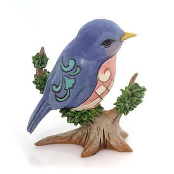 Jim Shore Bird On Branch Mini Figurine