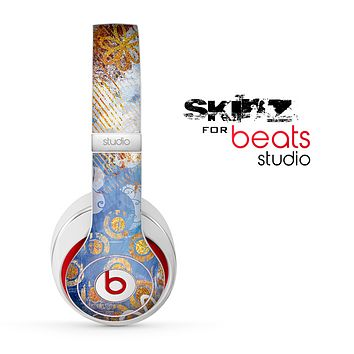 The Retro Vintage Floral Pattern Skin for the Beats Studio