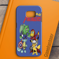 Pokemon Anime Cartoon All 8 Gym Badges 2 Samsung Galaxy S7 Edge Case | casefantasy