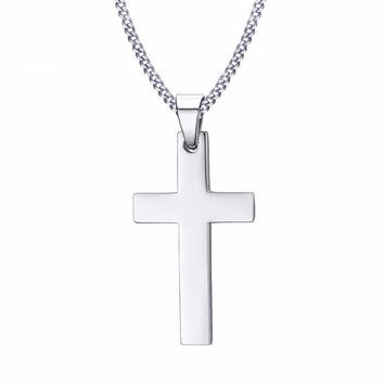 Stainless Steel Gold Chains Men Gold Chain Gold Cross Necklace F 7208f4e57404