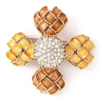 Kenneth Jay Lane Vintage Byzantine Cross Brooch