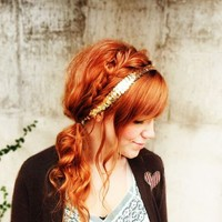 pretty braided natural ginger hair - Google Search