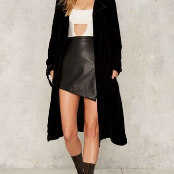 Nasty Gal Mississippi Moon Velvet Trench Coat