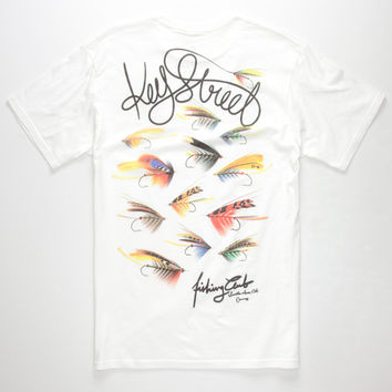 Key Street Stay Fly Mens T-Shirt White  In Sizes