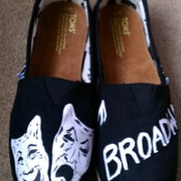 Hand Painted Broadway TOMS
