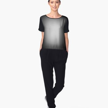 """White spotlight on black"" Women's Chiffon Top by steveball 