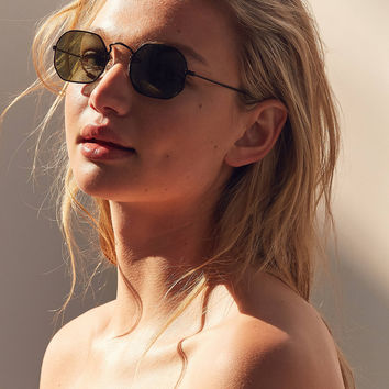 Vintage Shale Geometric Sunglasses | Urban Outfitters