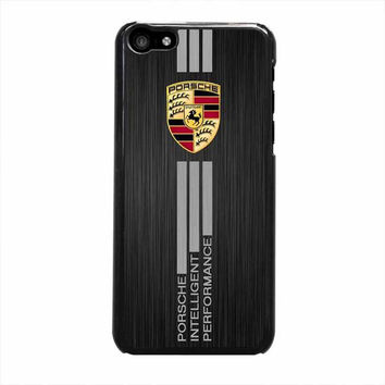 porsche aluminium brushed printedm iphone 5c 5 5s 4 4s 6 6s plus cases