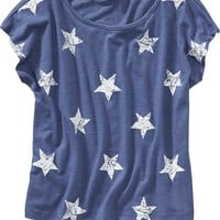 Old Navy Girls Star Print Tees