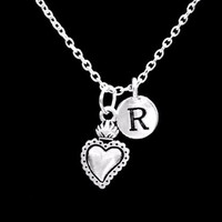 Choose Initial, Sacred Heart Mother's Day Gift Wife Mom Girlfriend Love Necklace