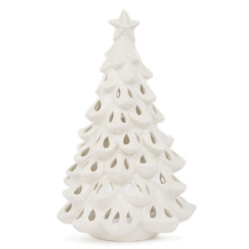 Ceramic Christmas Tree Tealight Holder
