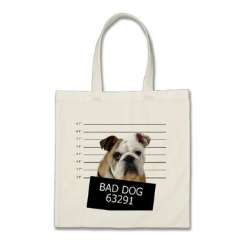 Bed dog - bulldog tote bag