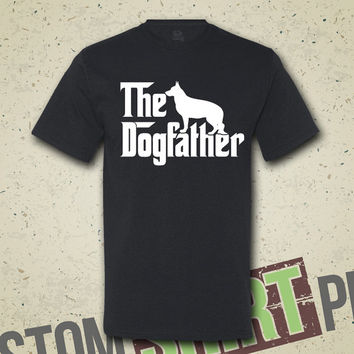 The Dogfather German Shepherd T-shirt - Tee - Shirt - Funny - Humor - Parody - The Godfather - Dog Lover - Animal Lover - Dog - Gift for Him