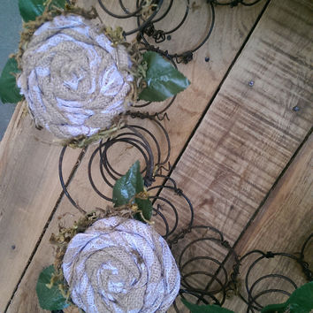 Rustic Bed Spring Wreath, Re-purposed Bed Springs, Door Wreath
