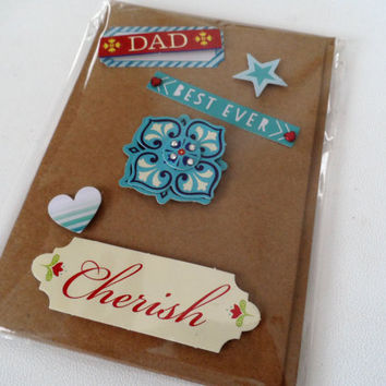 Cards - Fathers Day Card - Handmade Cards - Any occasion cards - Made in Australia - unique cards - Love - Happy Birthday - Hearts - DadCard