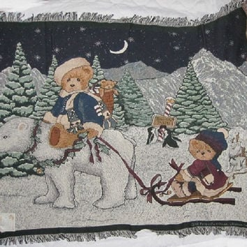 Manual Woodworkers Cherished Teddies Winter Night Afghan - ATCTWN