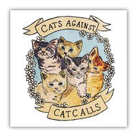 Cats Against Catcalls -- Poster