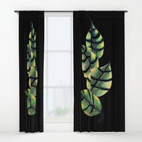Viper Leaves Window Curtains by ES Creative Designs